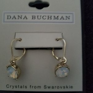 Gold dropp crystal earrings